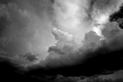 Beautiful Skyscape. Loads of billowy clouds in different patterns and colors royalty free stock image