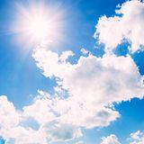 Beautiful skyscape with clouds Stock Images