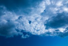Beautiful skyscape on a sunny day Royalty Free Stock Photography