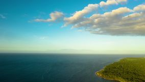 Timelapse of Tropical landscape with sea and clouds. Camiguin island Philippines. stock footage