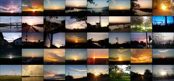 Beautiful skyscapes and sunsets stock photography