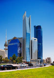 Beautiful skyscrapers of the Kuwait City Royalty Free Stock Photo
