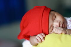 Beautiful Sleeping Baby Stock Photo