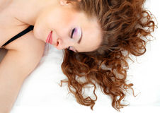Beautiful sleeping girl close up Stock Photography