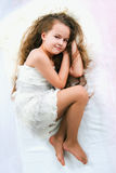 Beautiful sleeping girl Royalty Free Stock Photos