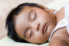 Beautiful Sleeping Indian Child Stock Photo