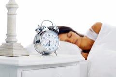 Beautiful sleeping woman Stock Photography