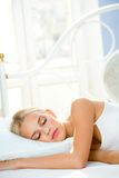 Beautiful sleeping woman Royalty Free Stock Images