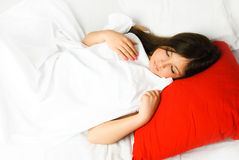 Beautiful sleeping woman Royalty Free Stock Images