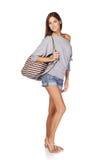 Beautiful slender girl Stock Images