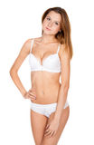 Beautiful slender girl in lingerie Royalty Free Stock Photos