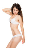 Beautiful slender girl in lingerie Royalty Free Stock Images
