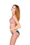 Beautiful slender girl in swimsuit Royalty Free Stock Image