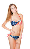 Beautiful slender girl in swimsuit Royalty Free Stock Photo