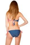 Beautiful slender girl in swimsuit Stock Image