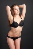 Beautiful slender graceful girl in lingerie Royalty Free Stock Image