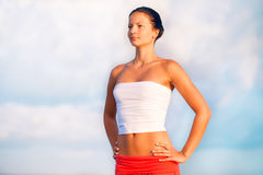 Beautiful slender woman Royalty Free Stock Images