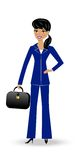 Beautiful  slender woman in business suit Stock Image