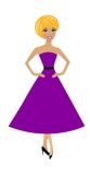 Beautiful  slender woman in lilac dress Stock Images