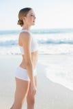 Beautiful slender woman looking away Stock Photos