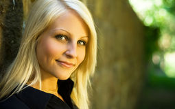 Beautiful slender young blond. Royalty Free Stock Photography