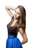 Beautiful slender young brunette. Stock Photo