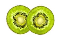 Beautiful slice of fresh juicy kiwi isolated on white Royalty Free Stock Image