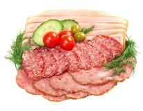 Beautiful sliced food arrangement Stock Images