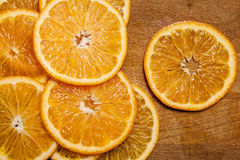 Beautiful sliced tangerine royalty free stock photography