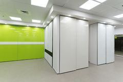 Beautiful sliding door closets. Of company called `mydoor` who made several new international patents in this industry stock photo