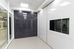 Beautiful sliding door closets. Company called `mydoor` who made several new international patents in this industry royalty free stock photo