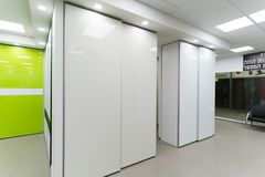 Beautiful sliding door closets. Of company called `mydoor` who made several new international patents in this industry royalty free stock image