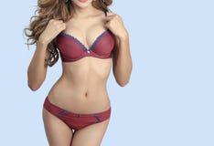 Beautiful slim body of woman Stock Photos