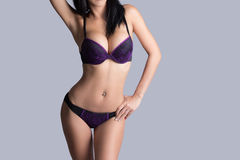 Beautiful slim body of woman Royalty Free Stock Images