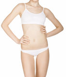 Beautiful slim female body in underwear Royalty Free Stock Image