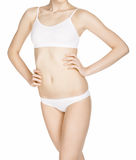 Beautiful slim female body in underwear Stock Photography