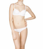 Beautiful slim female body in underwear Stock Image