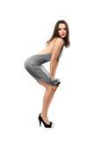 Beautiful slim lady Stock Photos