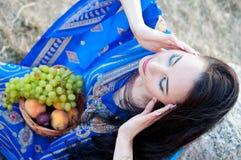 Beautiful slim lady, professional bellydancer Stock Image