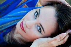 Beautiful slim lady, professional bellydancer Royalty Free Stock Photos