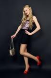 Beautiful slim model studio Stock Image