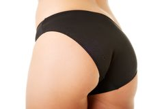 Beautiful slim woman buttock in lingerie Royalty Free Stock Photos
