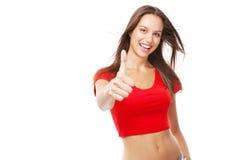 Beautiful slim woman isolated on white background Royalty Free Stock Image
