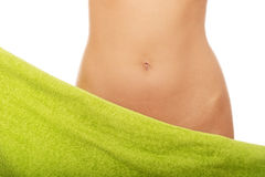 Beautiful slim woman's belly. Royalty Free Stock Image