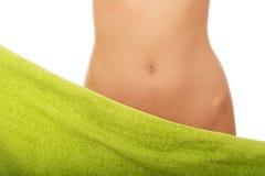 Beautiful slim woman's belly. Stock Image