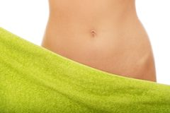 Beautiful slim woman's belly. Stock Images