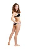 Beautiful slim young woman in underwear Stock Photos