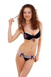 Beautiful slim young woman in underwear Stock Photography