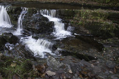 Beautiful slow shutter speed on waterfalls in south wales Royalty Free Stock Photography