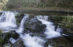 Beautiful slow shutter speed on waterfalls in south wales Royalty Free Stock Photos